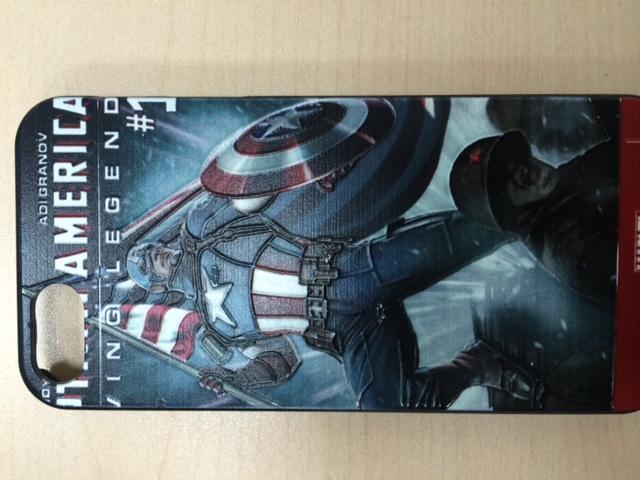 Бампер с капитаном Америка